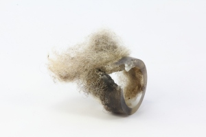 Welsh wool and resin embedded object