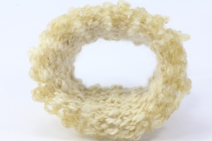 """Mam's Knitting"" Bangle, wool and resin"